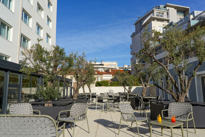 Terrasse hôtel Mercure - Marseille Centre Prado Vélodrome
